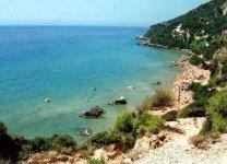 Spiaggia Myrtiotissa di Corfù