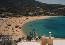 Spiaggia Mylopotas di Ios
