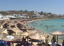 Spiaggia Platy Jalos di Mykonos