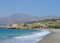 Spiaggia Makrigialos di Creta