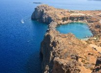 Spiaggia Limanaki Agios Pavlos di Rodi